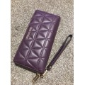 Michael Kors Money Pieces Travel Continental Quilted Leather (Damson/Purple) READY KL